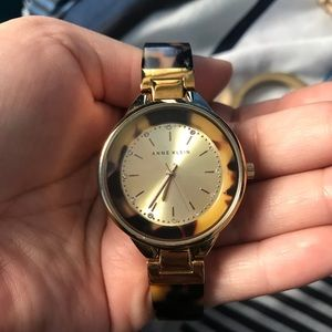 Anne Klein Turtle shell watch